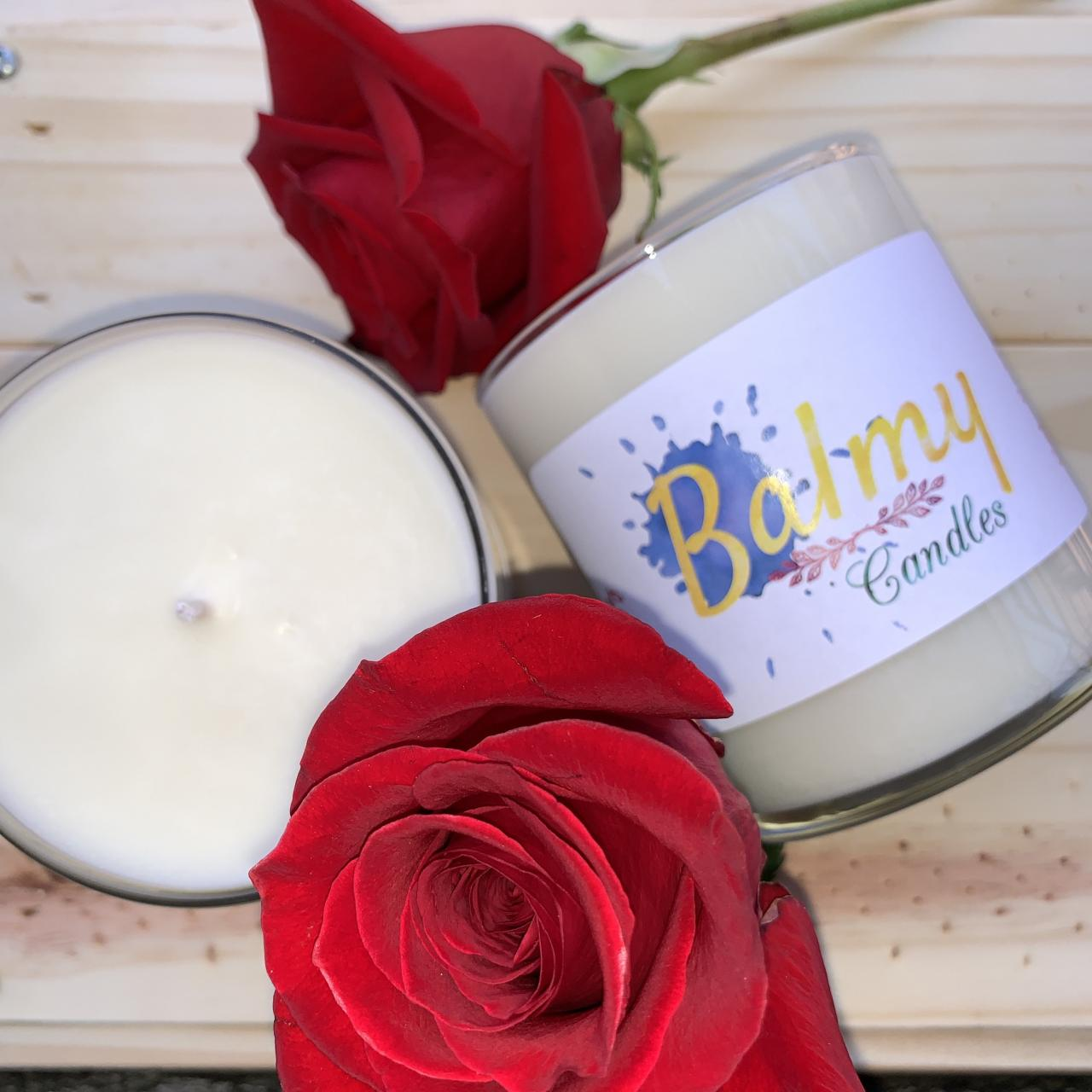 Red Rose Scented Soy Wax Candle | Handmade Candle