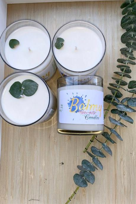 Eucalyptus + White Sage Hand-poured Soy Candle