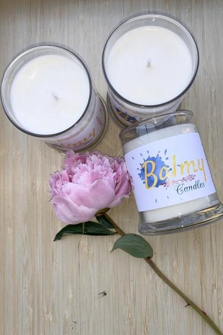 Magnolia + Peonies Hand-poured Soy Candle | Handcrafted Candle